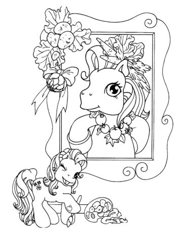 Picture Of Pony In Frame