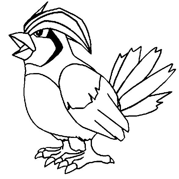 Pidgeotto Coloring Page