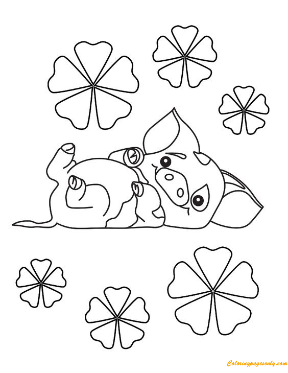Pig Pua From Moana Coloring Page