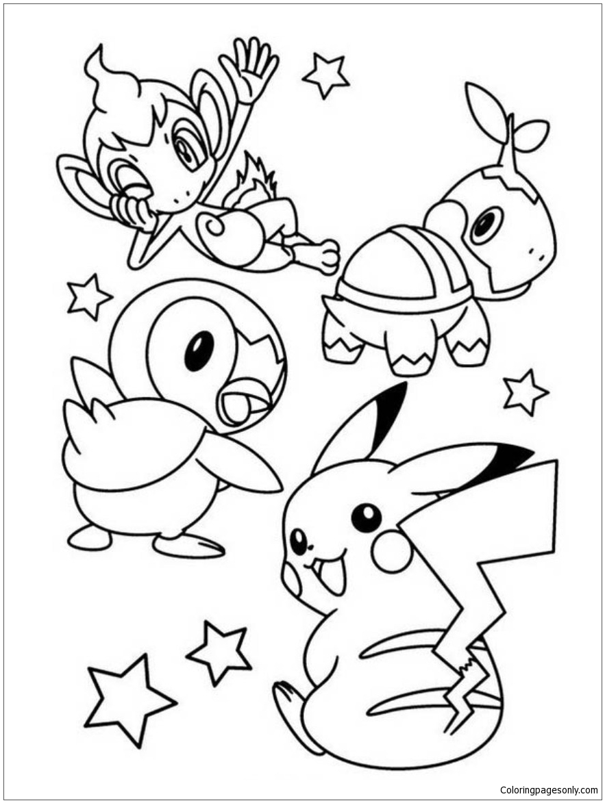 Pikachu And Friends 1 Coloring
