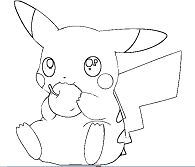 Pikachu Eating Apple