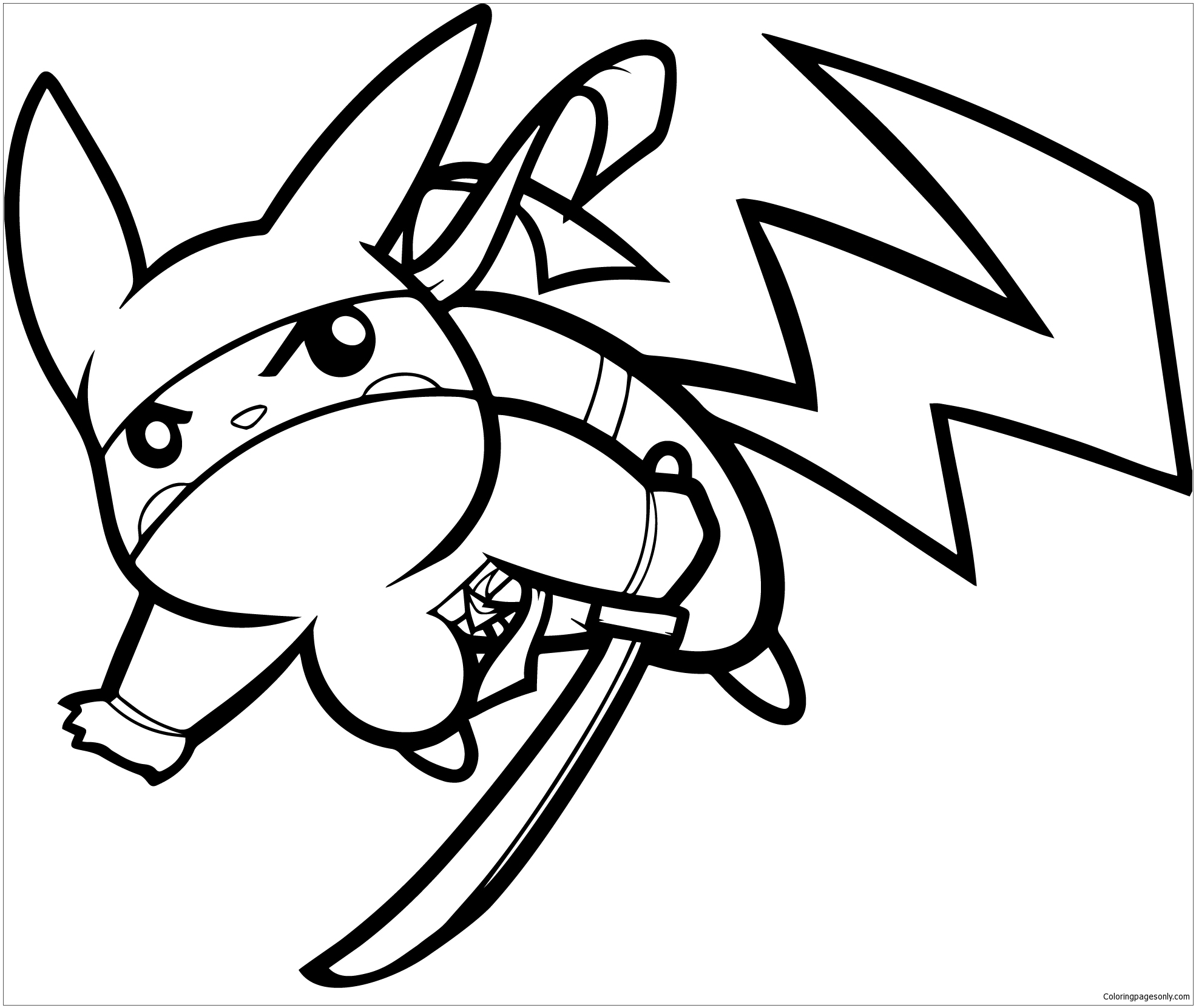 - Pikachu Ninja Coloring Page - Free Coloring Pages Online