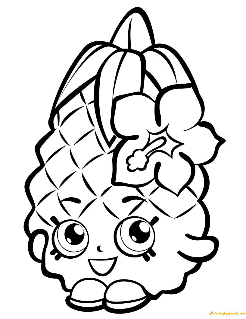 Pineapple Crush Shopkin Season 1 Coloring Page Free