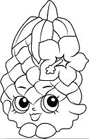 Pineapple Crush Shopkins Coloring Page