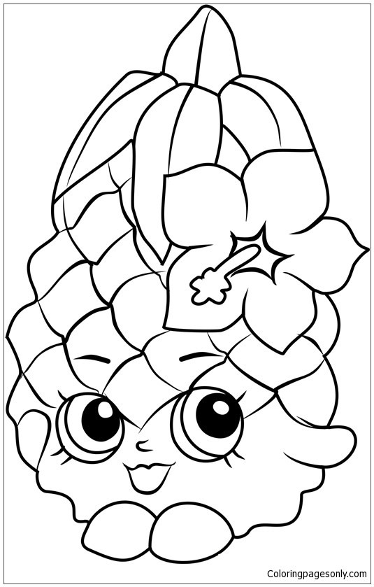- Pineapple Crush Shopkins Coloring Page - Free Coloring Pages Online
