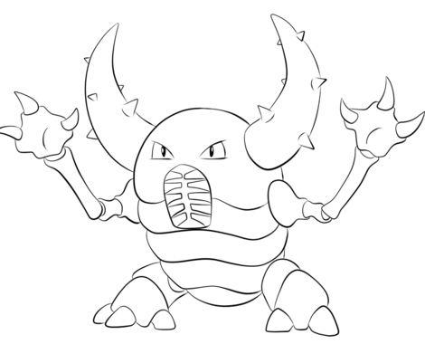 Pinsir Pokemon Coloring Page