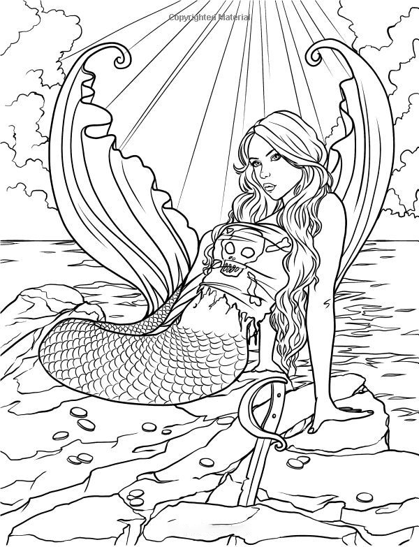 Pirate of Mermaid Coloring Page