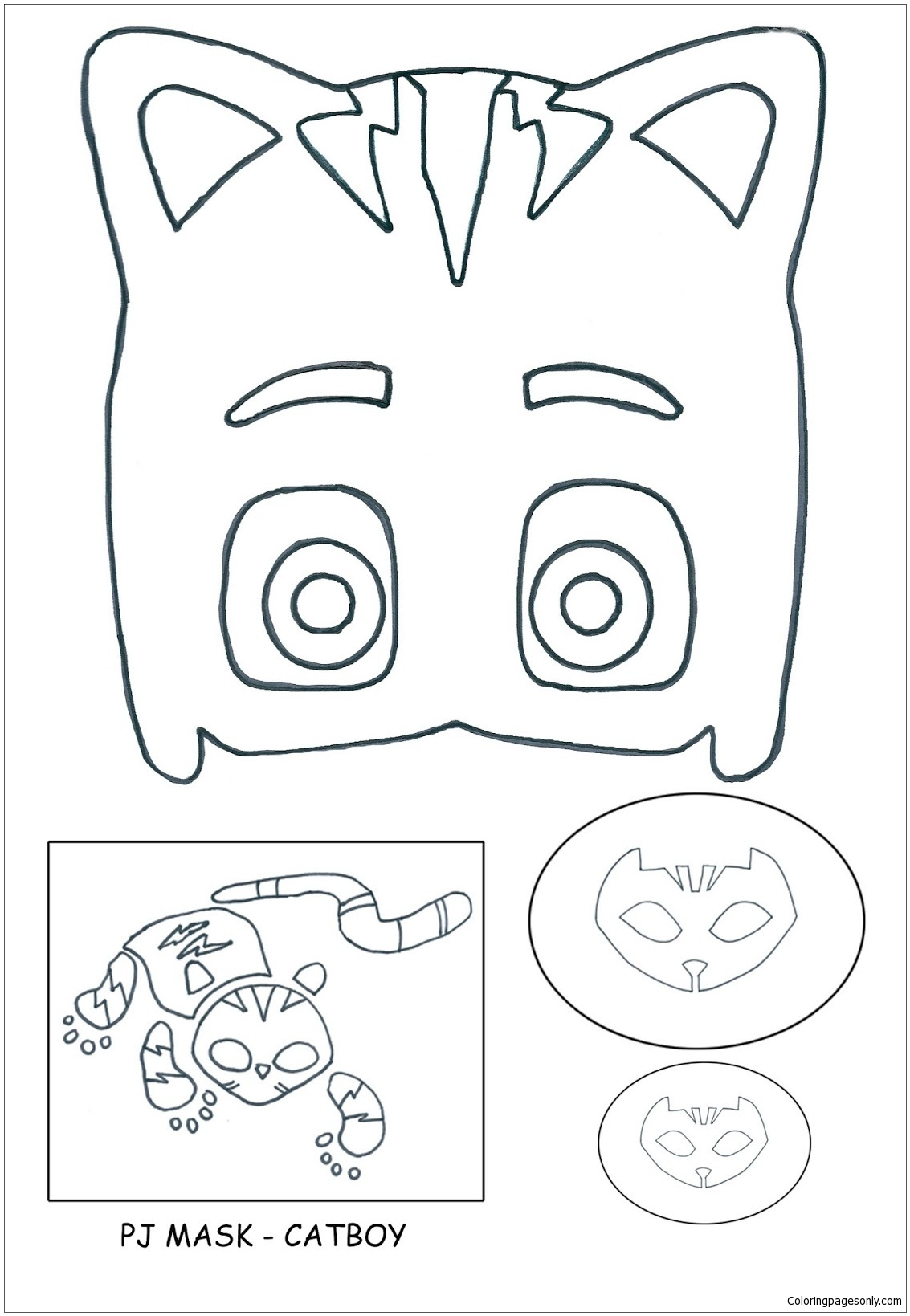 Pj Masks - Catboy Coloring Page - Free Coloring Pages Online