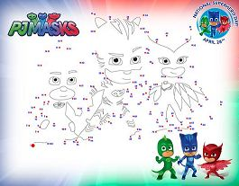 PJ Masks Dot-to-Dot Activity