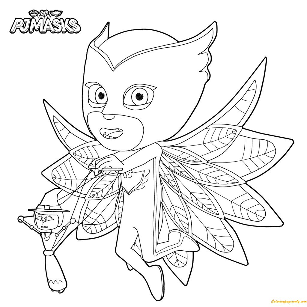 Pj masks kids coloring page free coloring pages online for Coloring pages masks