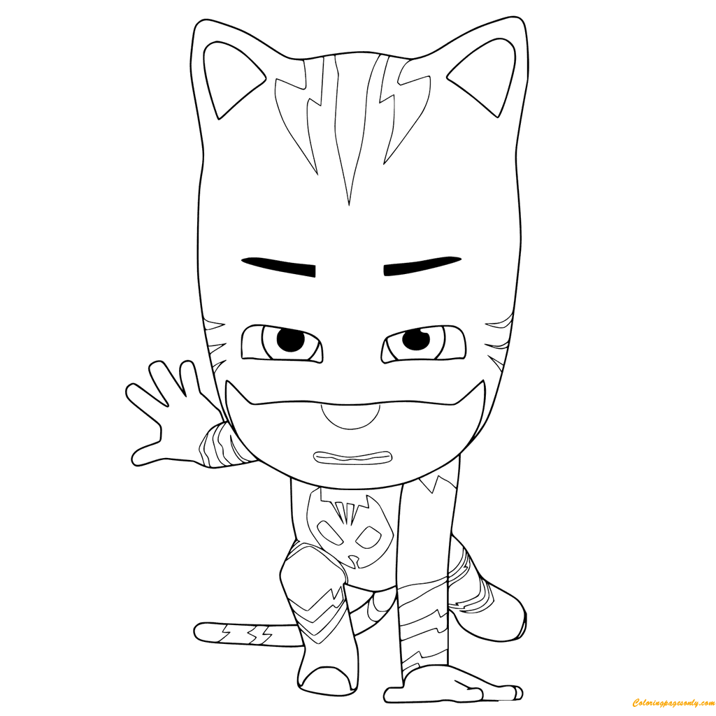 PJ Masks Ready To Fight Coloring Page Free Coloring