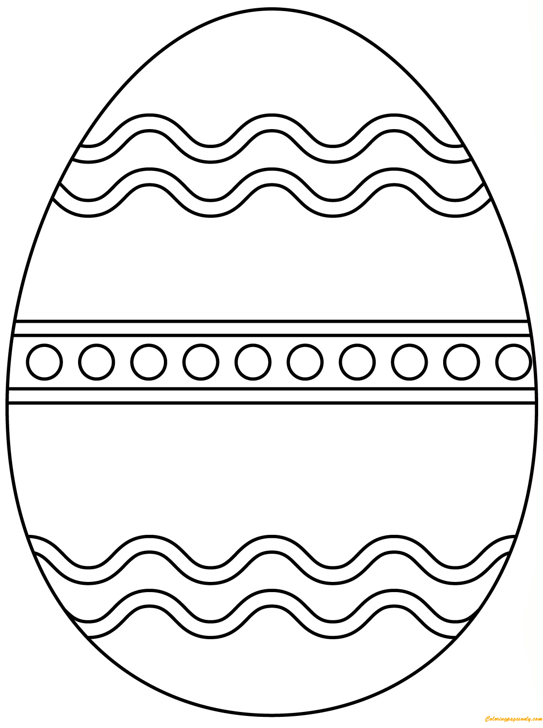 Plain Easter Egg Coloring Page Free Coloring Pages Online