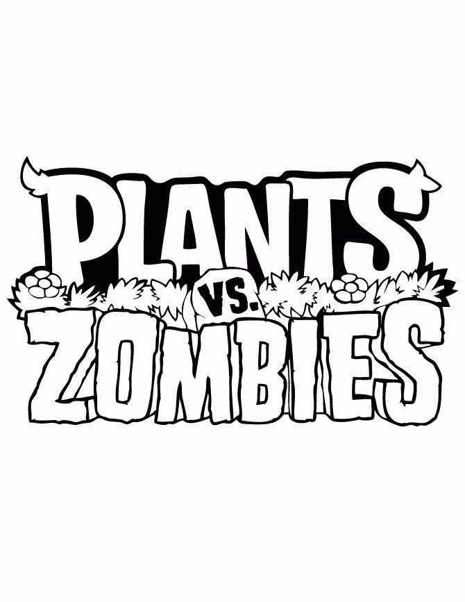 Plants vs Zombies Logo Coloring Page