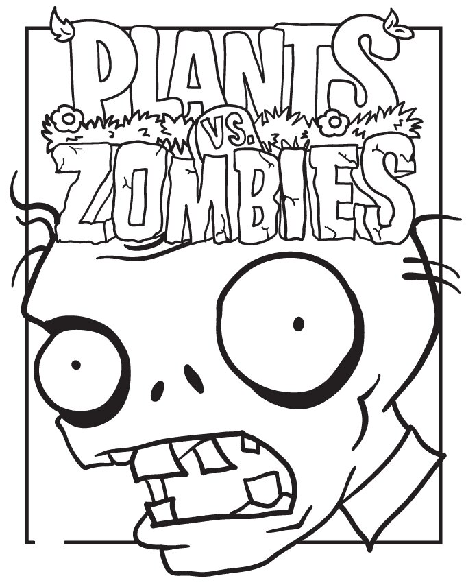 Plants vs Zombies Poster Coloring Page