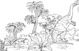 Plateosaurus and Hesperosuchus Coloring Page
