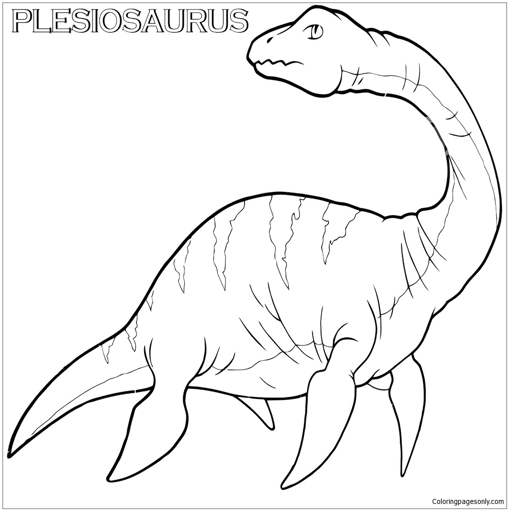 Plesiosaurus 1 Coloring Page Free Coloring Pages Online