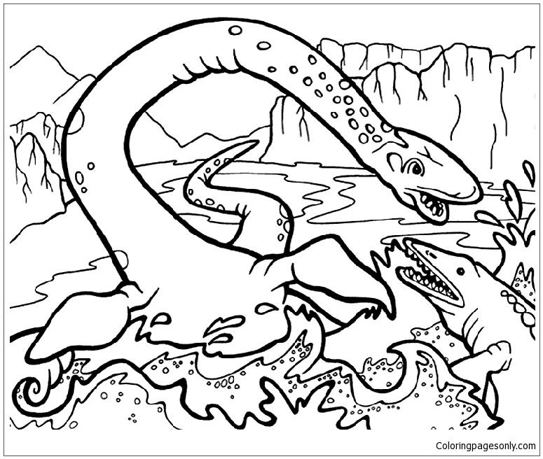 Plesiosaurus 5 Coloring Page