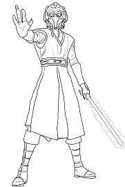Plo Koon from Star Wars Coloring Page