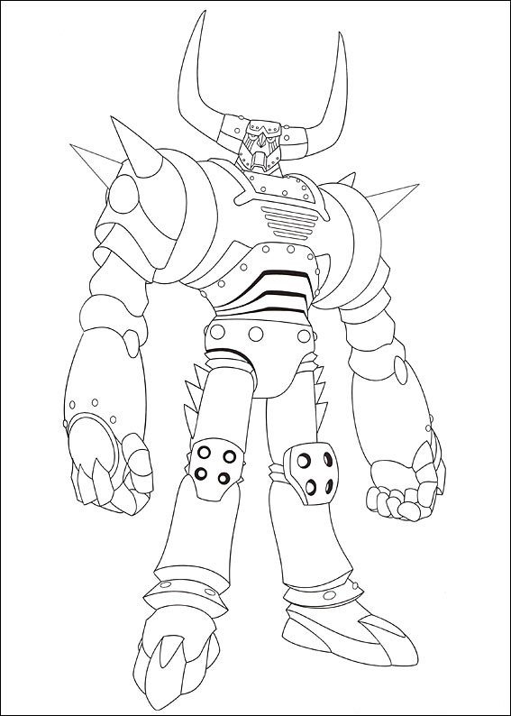Pluto is one of seven strongest robots in the world Coloring Page