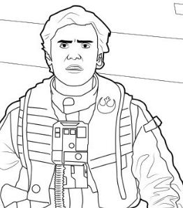 Poe Dameron - The Force Awakens Coloring Page