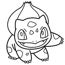 Pokemon Bulbasaur Coloring Page