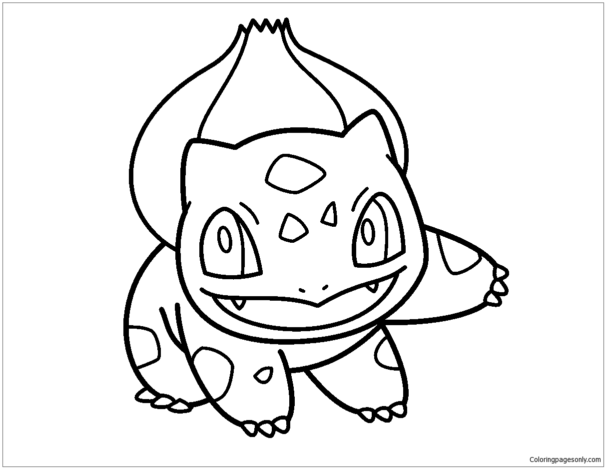 Pokemon Bulbasaur Coloring Page Free Coloring Pages Online