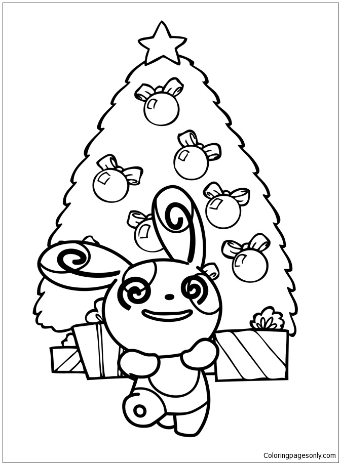 Pokemon Christmas Coloring Page - Free Coloring Pages Online