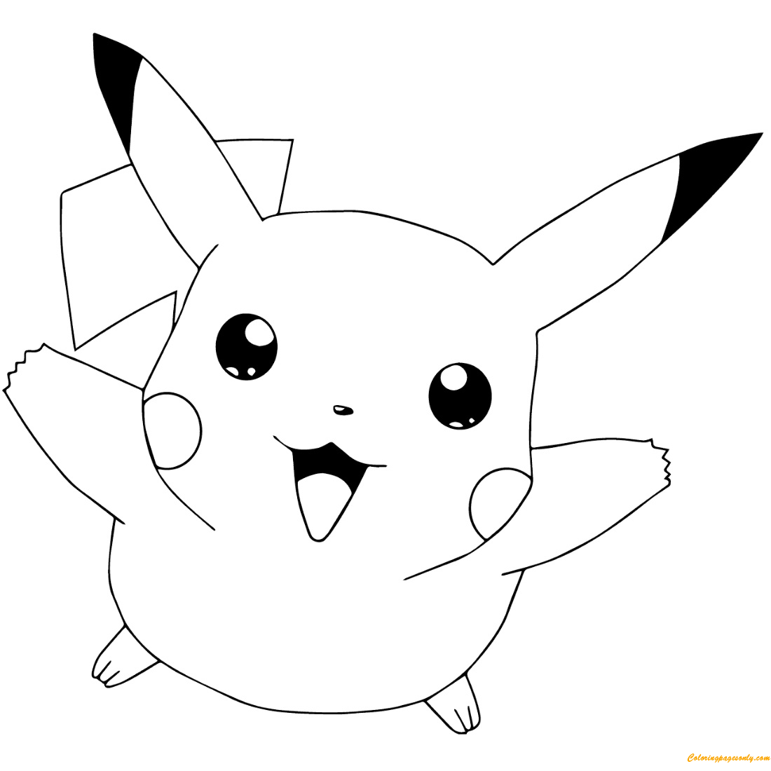 Pokémon GO Pikachu Flying Coloring Pages - Cartoons ...