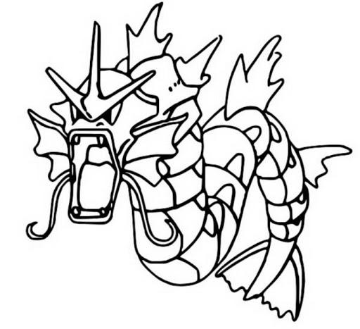 Pokemon Gyarados Coloring Page