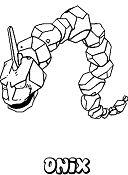 Pokemon Onix Coloring Page