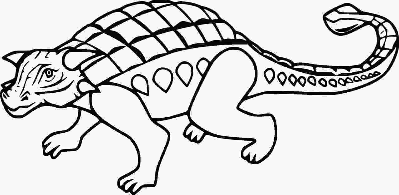 Polacanthus has a thickened layer of bone with osteoderms across its hips Coloring Page