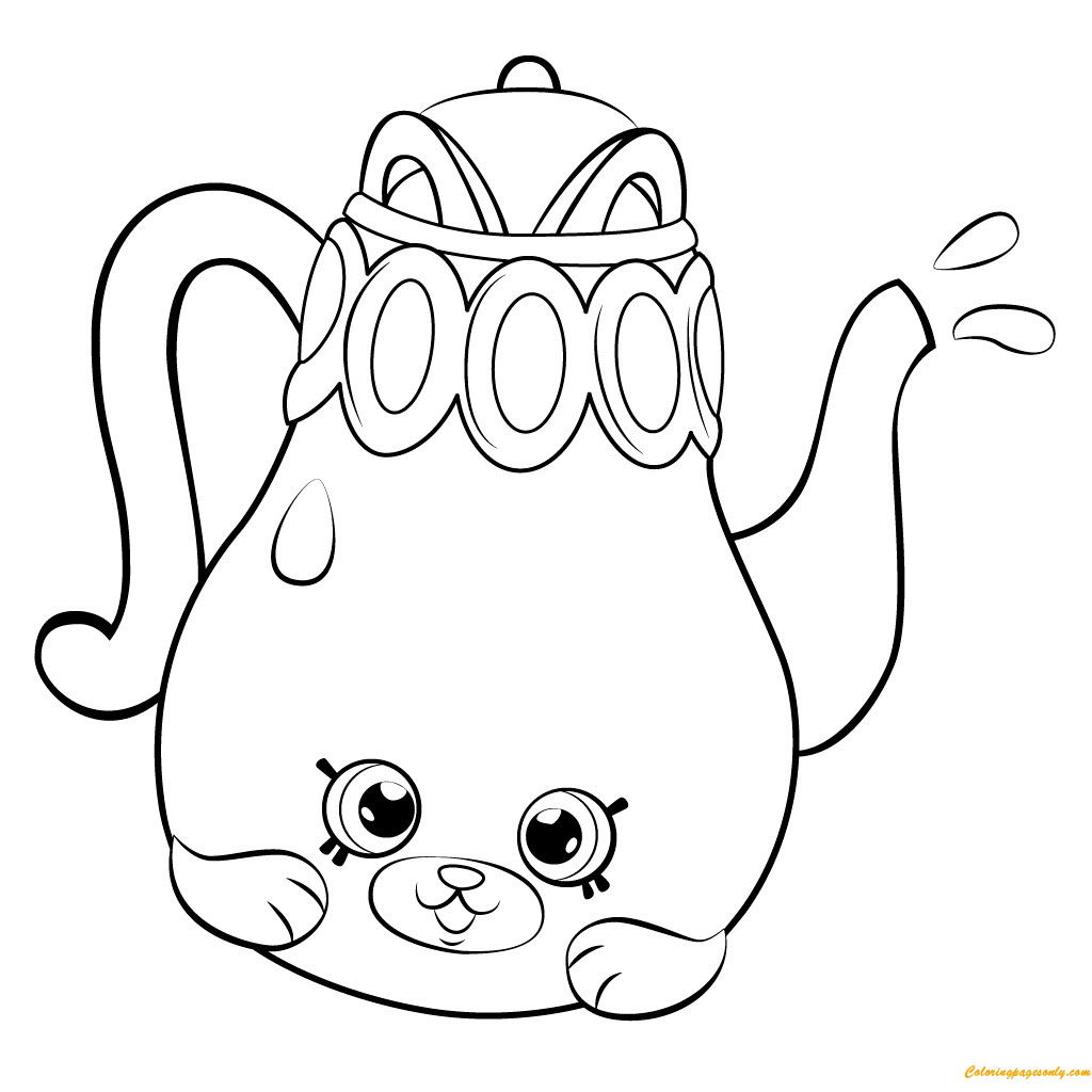 Polly Teapot Shopkin Season 5 Coloring