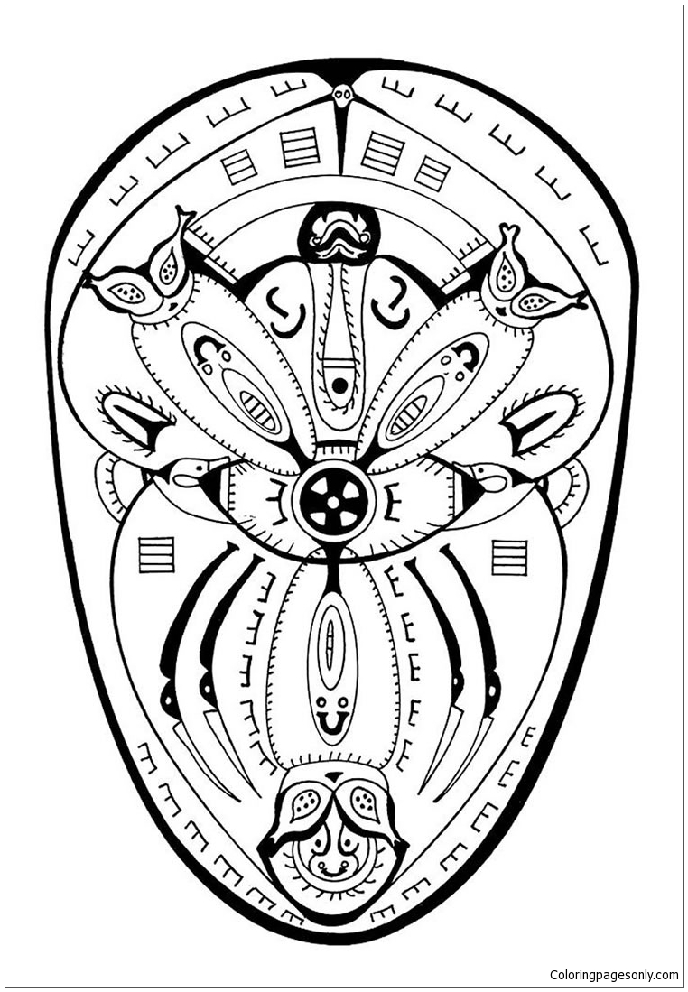 Polynesian Mandala Coloring Page Free Coloring Pages Online
