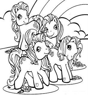 Ponies And Rainbow