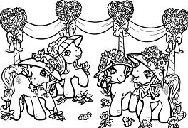 Ponies In Party Coloring Page