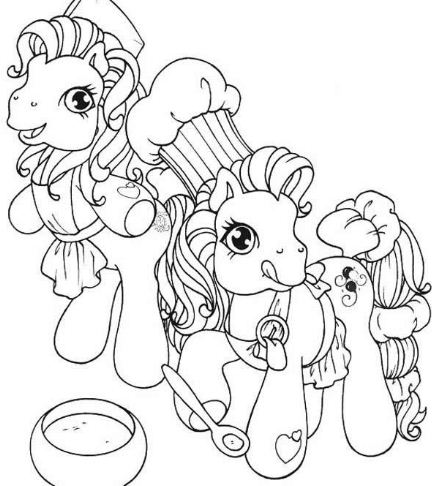 Ponies Making A Cake