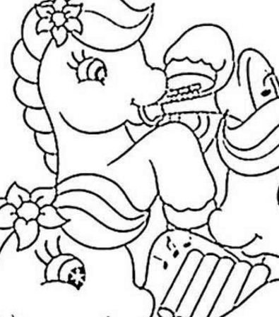 Ponies Playing Music Coloring Page