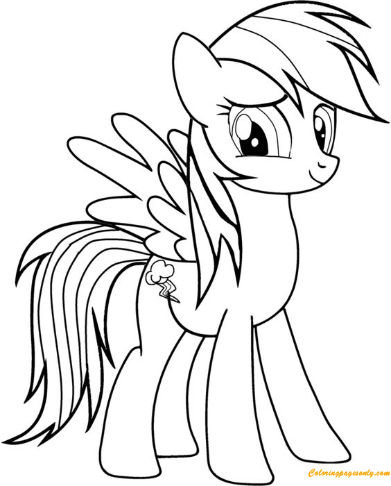 pony magic rainbow dash coloring page - Rainbow Dash Coloring Page