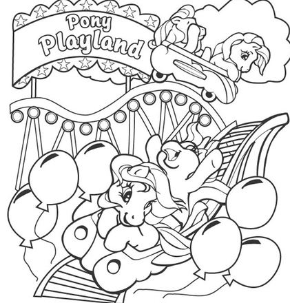 Pony Playland Coloring Page