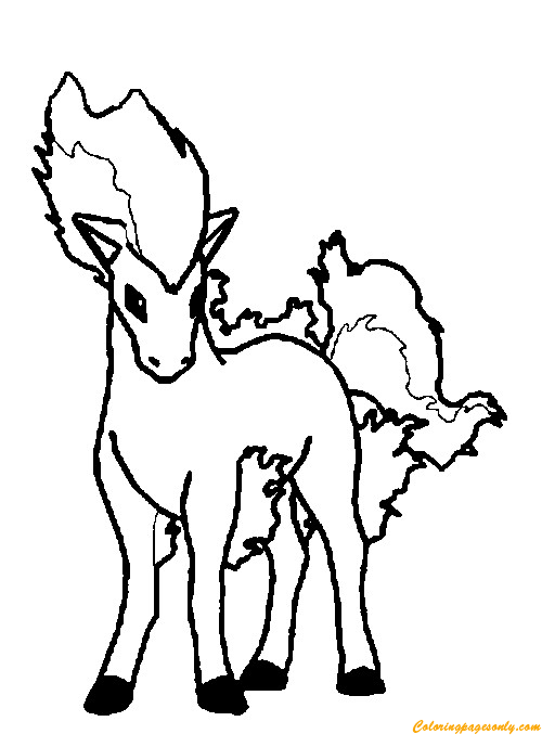 ponyta pokemon coloring page free coloring pages online