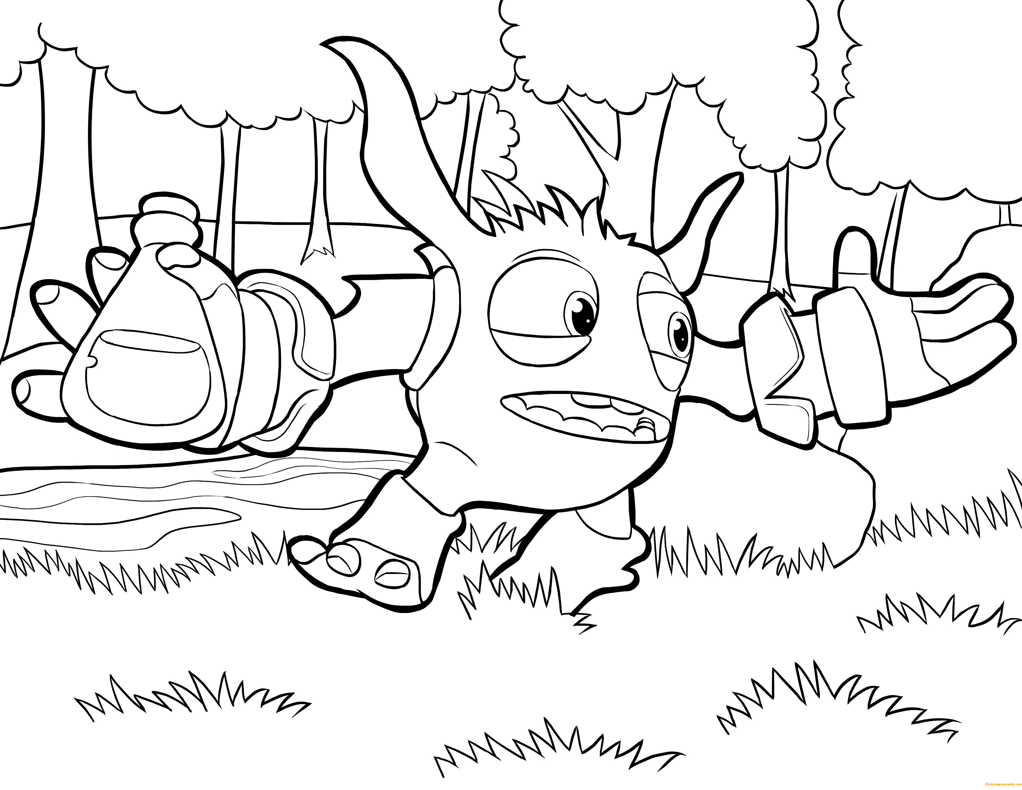Pop Fizz Skylanders Coloring Page Free Coloring Pages Online