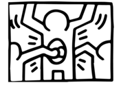 Pop Shop 1 by Keith Haring Coloring Page