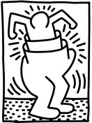 Pop Shop Figure by Keith Haring Coloring Page
