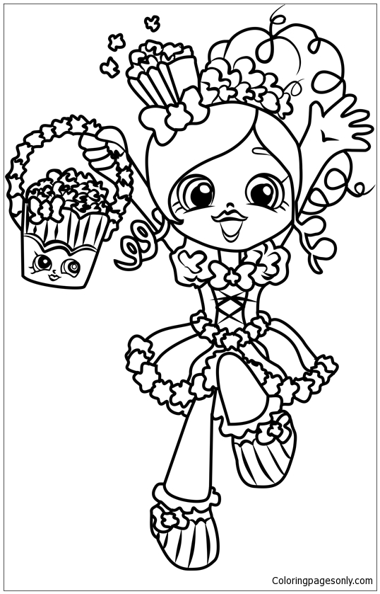 Popette Shopkins Coloring Page Free Coloring Pages Online