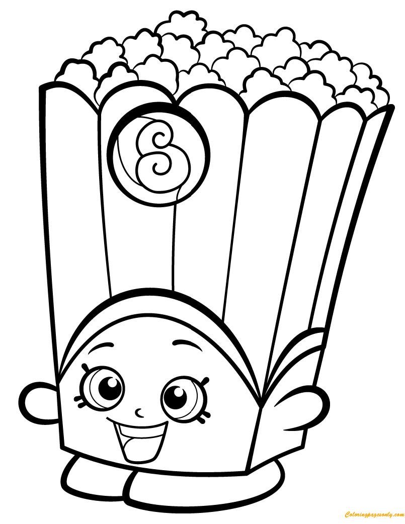 Poppy Corn Shopkin Season 2 Coloring Page