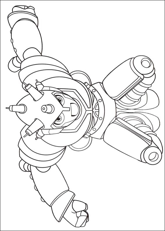 Powerful and dangerous young robot Atlas Coloring Page