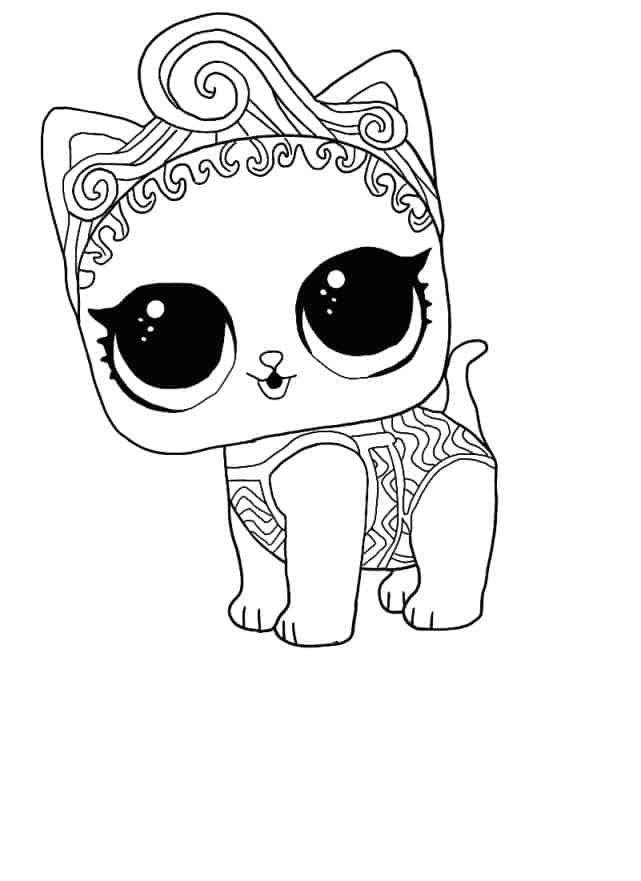 Lol Suprise Doll Precious Meow Coloring Page