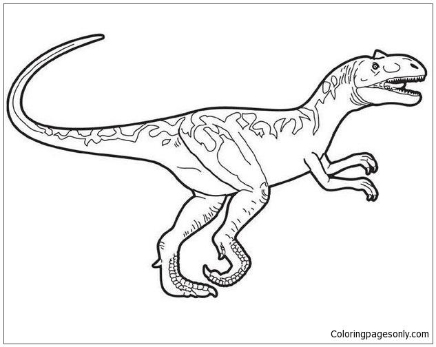 Prehistoric ankylosaurus Prehistoric allosaurus Coloring
