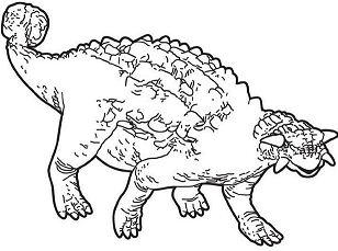 Prehistoric Ankylosaurus