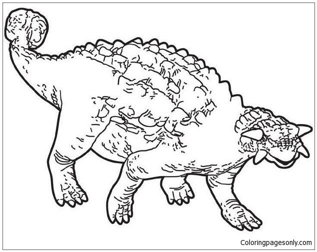 Prehistoric Ankylosaurus Coloring Page